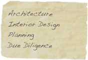 Architecture Interior Design Planning Due Diligence